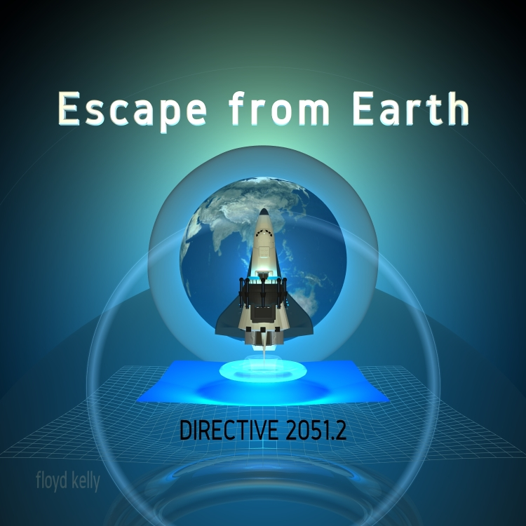 Album Cover for Escape from Earth by Floyd Kelly.