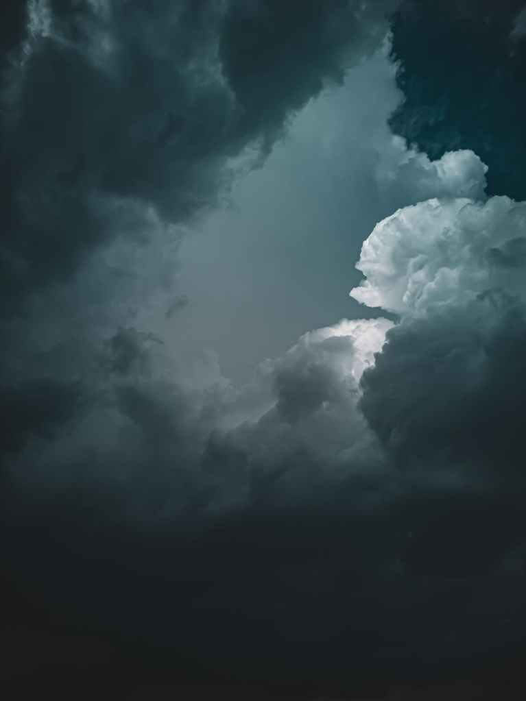 A photo of some dark foreboding clouds.